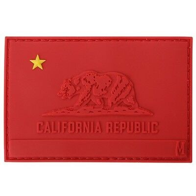 """Maxpedition CALIR Communist Kalifornia Flag Patch Red 3"""" x 2"""""""