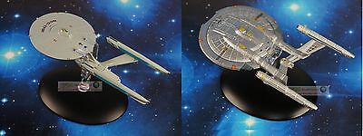 Eaglemoss STAR TREK USS Enterprise NCC 1701 REFIT + NX-01 Model Starship Set 2