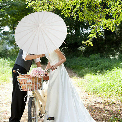 20CM White Paper Parasol Umbrella Wedding Party Decor Bridal Photography Props