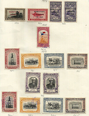 PANAMA lot 38 Stamps Yv 241/266 No correlatives - MH - Used