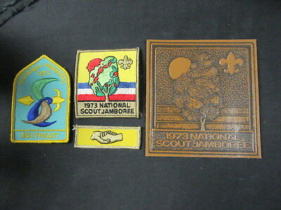 1973 National Jamboree 4 Different Patches      c42