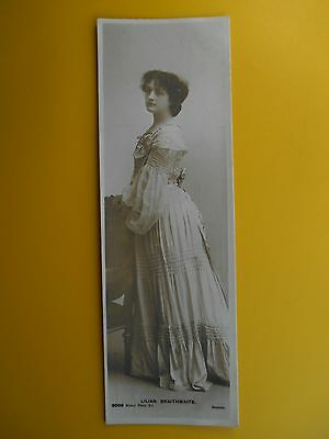 LILIAN BRAITHWAITE Edwardian Stage Actress *Vintage* Bookmark RP Postcard c1903