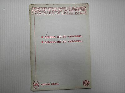 Gilera 125 150 5V Arcore genuine parts catalogue good lightly USED