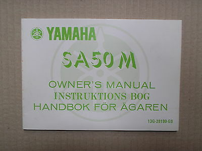 Yamaha SA 50 SA50 SA50M genuine owners manual 13G-28199-E0 lightly USED