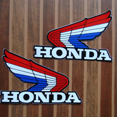 Honda, Vintage ,retro  Wing Emblems  , Free Uk Post.
