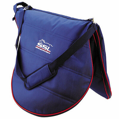 Shires Zip Up Saddle Carrying/storage/travel Carry Bag With Shoulder Strap Navy