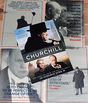 CHURCHILL The Movie PROMO' Postcards new