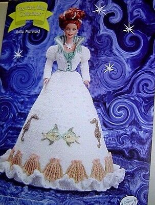 LITTLE MERMAID Annie's Attic Fairy Tale Collection CROCHET PATTERN Fits Barbie