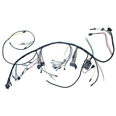 Mustang Underdash Wiring Harness With Gauges 3-Speed Heater 1965