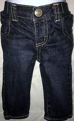 Old Navy Pants, Jeans, Straight Fit, Elastic Waist, Blue, Boys, 12-18 Months