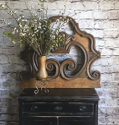 Architectural Salvage Wood Motif, One Of A Kind Wood Design, Farmhouse Wall