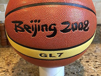 Official FIBA Molten GL 7 2008 Beijing Olympic USA Game Ball Leather Basketball