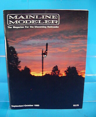 Mainline Modeler Magazine September/october 1980 Mp Caboose, Nkp 2-8-2, Prr Pa