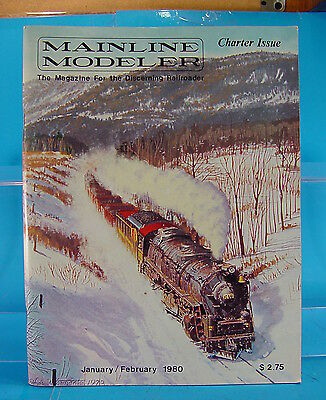 Mainline Modeler Magazine January/february 1980 Charter Issue Sp Alco Pa C&o