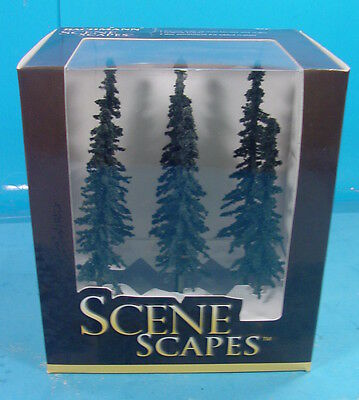 """O/s/ho/n Bachmann Scene Scapes 32003 Six 5""""-6"""" Conifer Trees For Layout"""