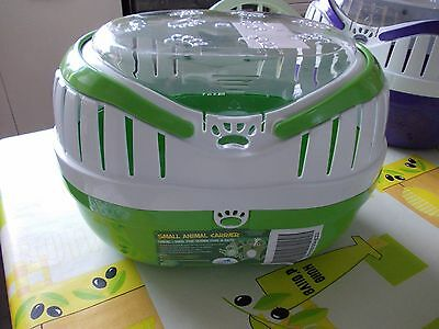 Happy Pet Large Green Animal Carrier for small hamsters, gerbils, mice, reptile