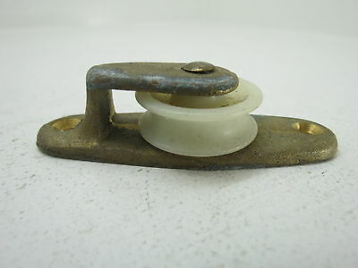 1+1/4 Inch Bronze Nylon Deck Pulley Block Boat Ship Brass Block Tackle (#224)