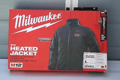 Milwaukee 201B21 Men's L Heated Jacket Kit w/ M12 battery and charger - Black