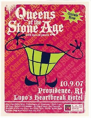 Queens Of The Stoneage Gig  Flyer Providence Lupos 2007