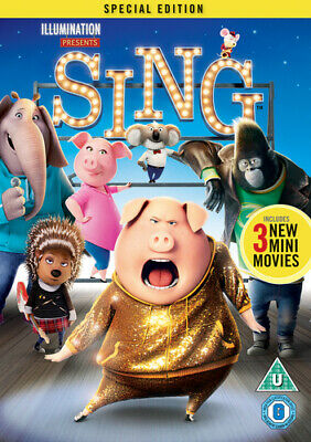 Sing DVD (2017) Garth Jennings cert U Highly Rated eBay Seller Great Prices