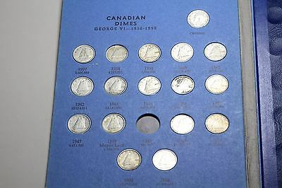 CANADA. Complete Dime Collection, 1937-1983, minus 1948. Some silver! (SKU #F2)