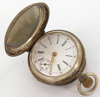 `a Good Antique / Miniature Swiss Made .800 Silver Pocket Watch, A Fixer.