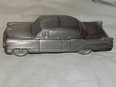 "Vintage 1955 Cadillac 2 dr. Hard Top Bank ~ 1974 Banthrico ~ 7 1/2"" Long Pewter"