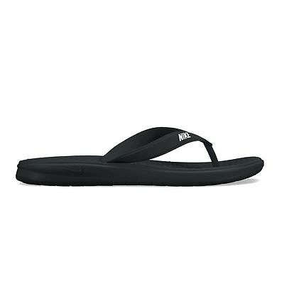New Nike Solay Women's Sandals Flip Flop Thong size 6 7 8 9 10 11 Black/White