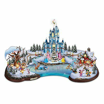 Magical Christmas World of Disney Sculpture Lighted Holiday Sculpture