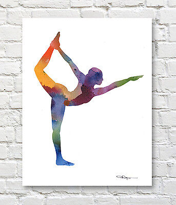 yoga pose skyline city water colour Canvas Wall Art Picture Print a4a316x20 500