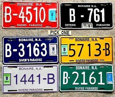 ST MAARTEN License Plate Tag- LOW SHIPPING. PICK ONE mid-2000's - Low Shipping