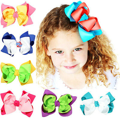 Kids Baby Girls Children Toddler Hair Clip Pin Alligator Clips Bow Accessories