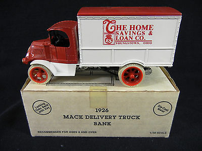 THE HOME SAVINGS & LOAN CO., Youngstown Ohio 1926 Mack Delivery Truck Bank