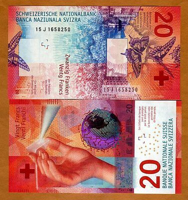 Switzerland, 20 Francs, 2015 (2017), P-New,  Hybrid Polymer, UNC