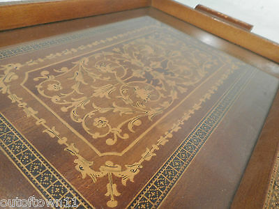 Small Vintage inlaid  Tray , Sorrento Ware type  , ref 2490