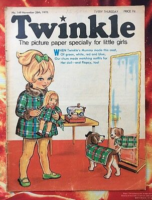 TWINKLE  COMIC NO. 149. 28 NOV 1970. VG  Puzzles Not Done. DRESS TWINKLE PAGE.