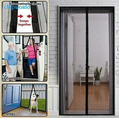 Anti-Insect Fly Bug Mosquito Door Window Curtain Net Mesh Magnetic Clasp Screen