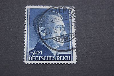 German Stamps. 1942 THIRD REICH HITLER ISSUE. TOP VALUE. P12 1/2. V. SCARCE.