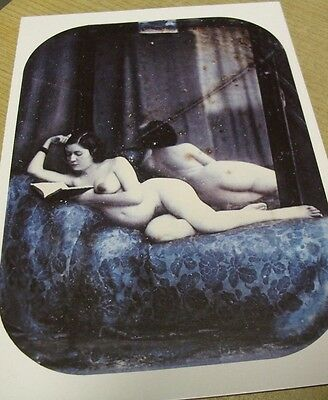 Akt Nue Erotik Postkarte Attributed to Auguste Belloc Nude 1850-53 Reprint 1994