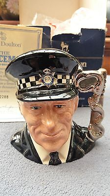 Small Limited Edition Royal Doulton Character Jug – D6852 The Policeman & Cert