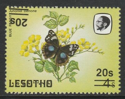 Lesotho 4327 - 1986 BUTTERRFLY SURCHARGE DOUBLED, ONE INVERTED  unmounted mint