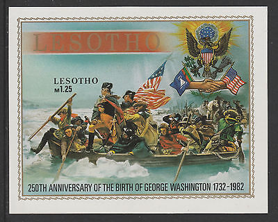 Lesotho 4329 - 1982 FLAGS IMPERF M/SHEET  unmounted mint (GEORGE WASHINGTON)