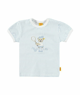 Steiff Newborn Little Star Tennis Shirt Light Blue Size 56 - 86 NEW