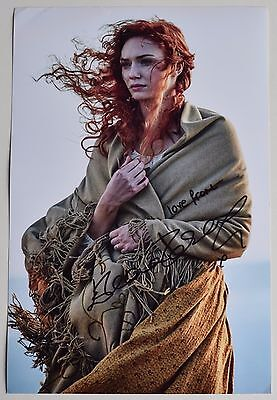 Eleanor Tomlinson SIGNED 12x8 Photo Autograph Poldark TV Memorabilia AFTAL COA