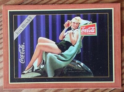 Coca Cola Clark Joan Blondell Silver Lettered Insert Card Series 4 1995 H-3