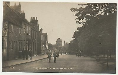 Superb Cond R/P P/C Aylesbury St Wendover Pedestrians & WW1 Soldiers in Uniforms