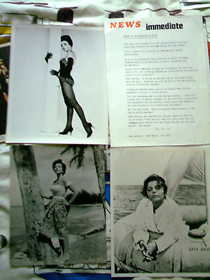 Joan Collins : 5 Original 10X8 B/w Press Stills..check Out My Others For Sale