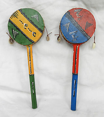 Hand Made & Painted African - Kenyan Monkey Drum - NEW