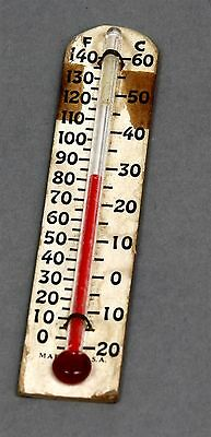 John CHANEY ACU-RITE Cardboard Backed THERMOMETER Miniature Advertising