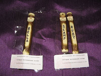 Handmade Dog Training Whistle Keyring With Name Etched On, Made From Hazel/ash